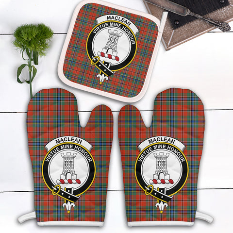 MacLean of Duart Ancient Clan Crest Tartan Scotland Oven Mitt And Pot-Holder (Set Of Two)