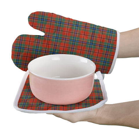 MacLean of Duart Ancient Clan Tartan Scotland Oven Mitt And Pot-Holder (Set Of Two)