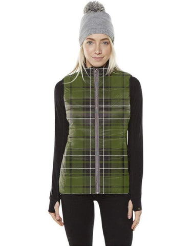 Image of MacLean Hunting Tartan Puffer Vest for Men and Women K7