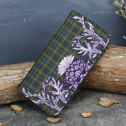 MacLellan Ancient Tartan Wallet Women's Leather Thistle A91