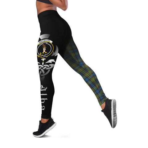 MacLellan Ancient Crest Tartan Alba Celtic Leggings | Over 500 Tartans | Special Custom Design