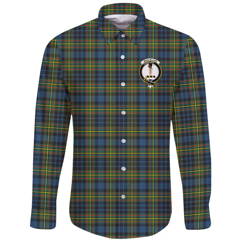 MacLellan Ancient Tartan Clan Long Sleeve Button Shirt | Scottish Clan