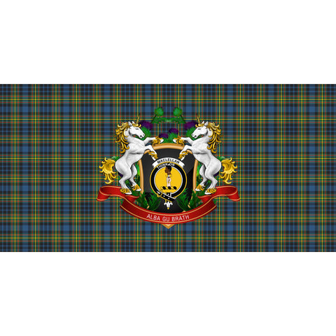 MacLellan Ancient Crest Tartan Tablecloth Unicorn Thistle A30