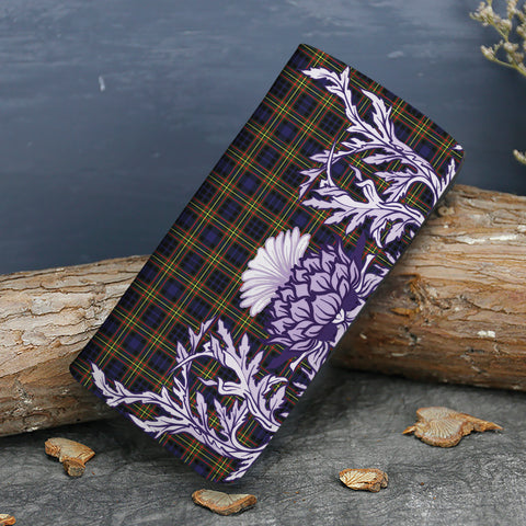 MacLellan Modern Tartan Wallet Women's Leather Thistle A91