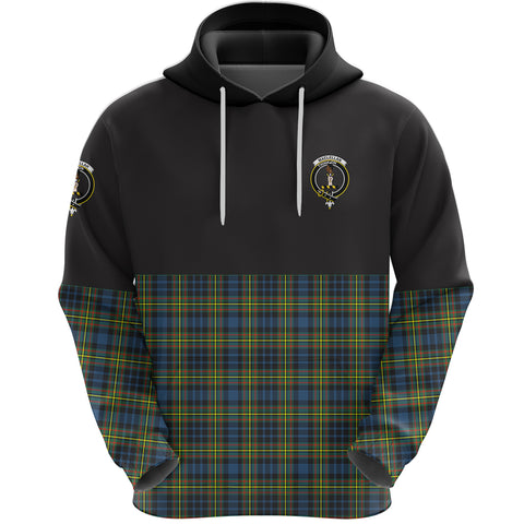MacLellan Ancient Clan Hoodie Half Of Tartan