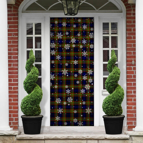 MacLellan Modern Christmas Tartan Door Sock Cover