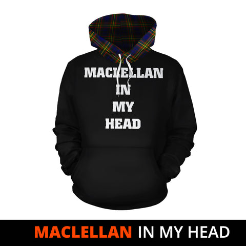 Image of MacLellan Modern In My Head Hoodie Tartan Scotland K9