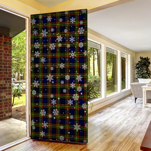 Image of MacLellan Modern Christmas Tartan Door Sock Cover