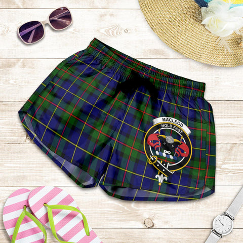 MacLeod of Harris Modern crest Tartan Shorts For Women