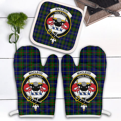 MacLeod of Harris Modern Clan Crest Tartan Scotland Oven Mitt And Pot-Holder (Set Of Two)
