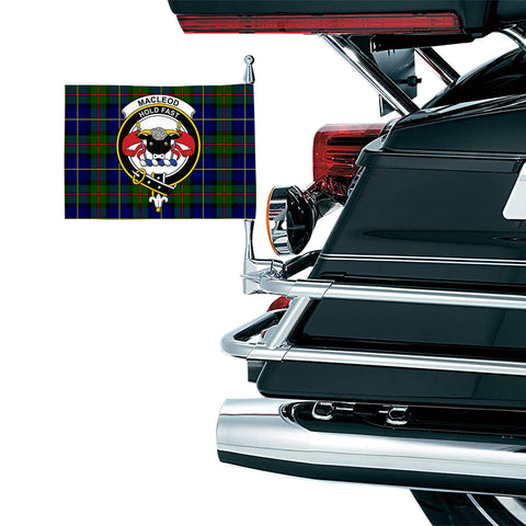 MacLeod of Harris Modern Clan Crest Tartan Motorcycle Flag