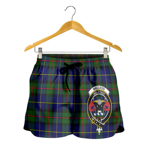 MacLeod of Harris Modern Crest Tartan Shorts For Women K7