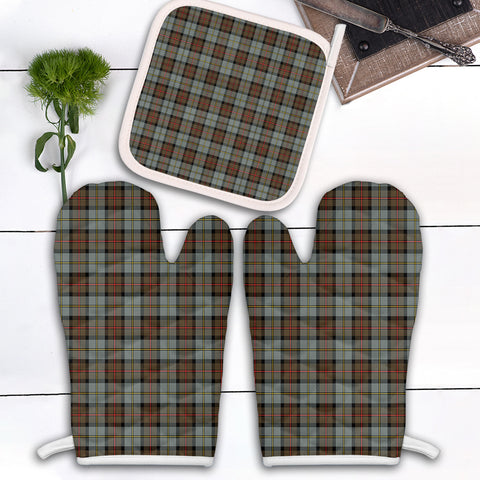 Image of MacLeod of Harris Weathered Clan Tartan Scotland Oven Mitt And Pot-Holder (Set Of Two)