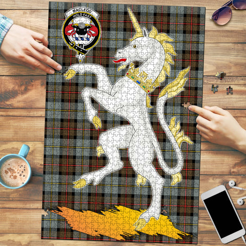 MacLeod of Harris Weathered Clan Crest Tartan Unicorn Scotland Jigsaw Puzzle