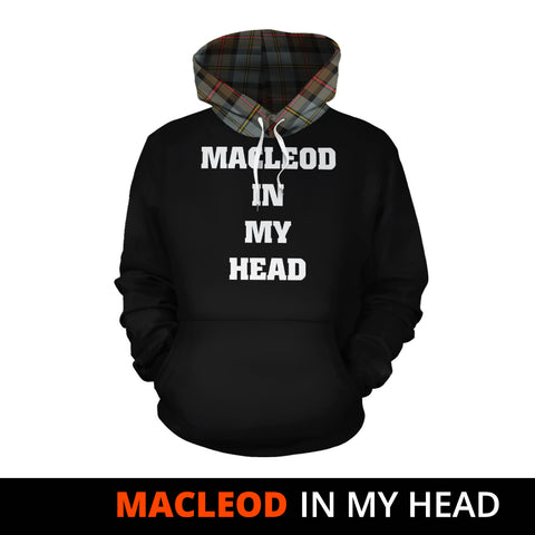 MacLeod of Harris Weathered In My Head Hoodie Tartan Scotland K9