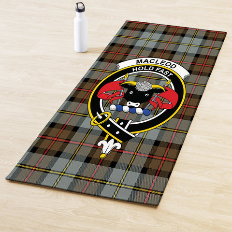 MacLeod of Harris Weathered Clan Crest Tartan Yoga mats