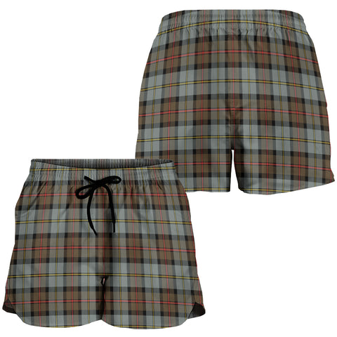 Image of MacLeod of Harris Weathered Crest Tartan Shorts For Women K7
