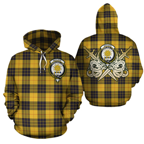 MacLeod of Lewis Ancient Clan Crest Tartan Scottish Gold Thistle Hoodie