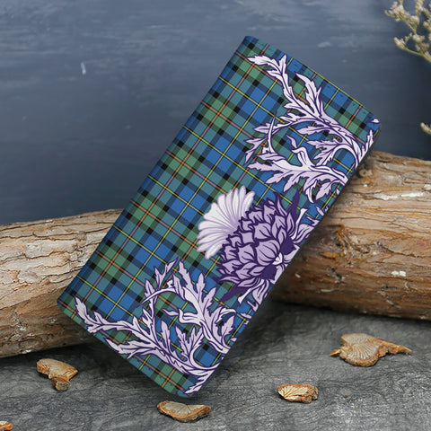 MacLeod of Harris Ancient Tartan Wallet Women's Leather Thistle A91