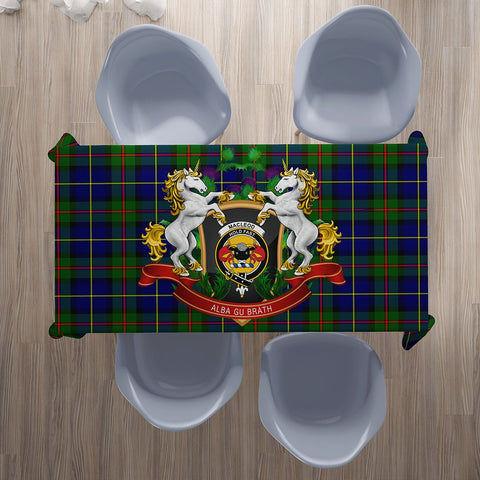 MacLeod of Harris Modern Crest Tartan Tablecloth Unicorn Thistle | Home Decor