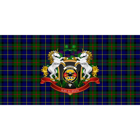 MacLeod of Harris Modern Crest Tartan Tablecloth Unicorn Thistle A30