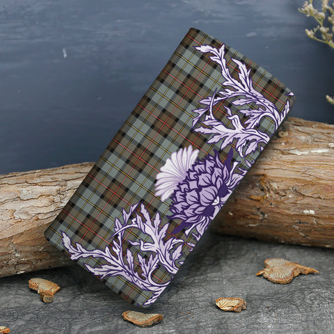 MacLeod of Harris Weathered Tartan Wallet Women's Leather Thistle A91
