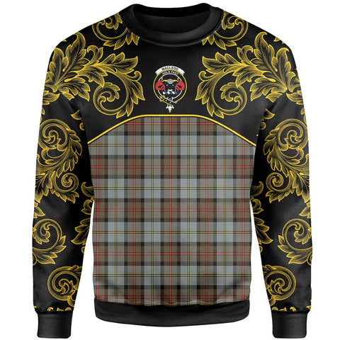 Image of MacLeod of Harris Weathered Tartan Clan Crest Sweatshirt - Empire I - HJT4 - Scottish Clans Store - Tartan Clans Clothing - Scottish Tartan Shopping - Clans Crest - Shopping In scottishclans - Sweatshirt For You