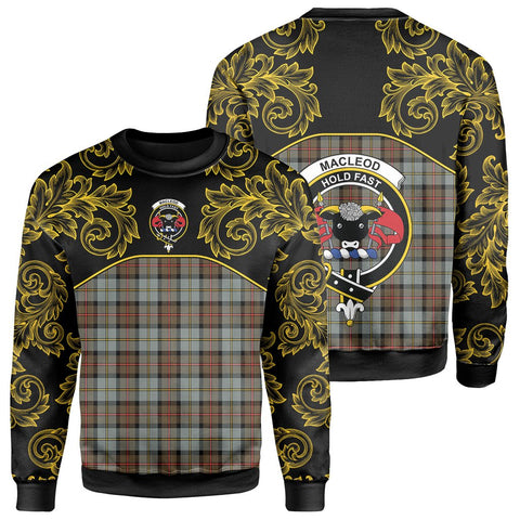 Image of MacLeod of Harris Weathered Tartan Clan Crest Sweatshirt - Empire I - HJT4
