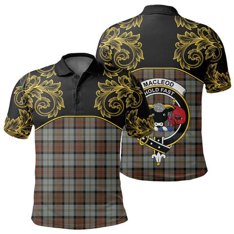 Image of MacLeod of Harris Weathered Tartan Clan Crest Polo Shirt - Empire I - HJT4