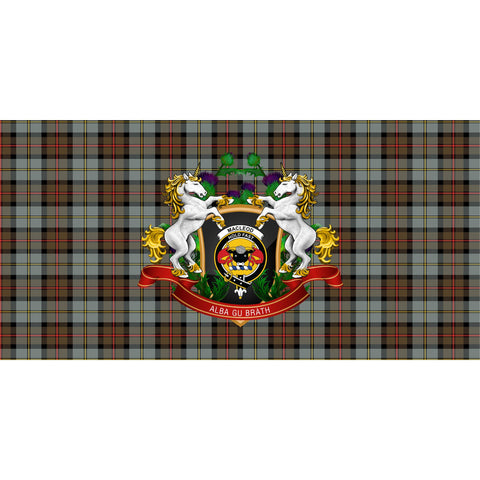 Image of MacLeod of Harris Weathered Crest Tartan Tablecloth Unicorn Thistle A30