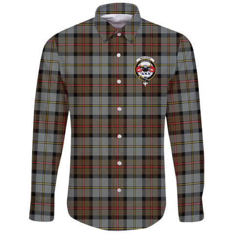 Image of MacLeod of Harris Weathered Tartan Clan Long Sleeve Button Shirt | Scottish Clan