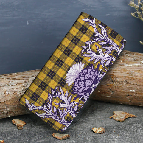 MacLeod of Lewis Ancient Tartan Wallet Women's Leather Thistle A91