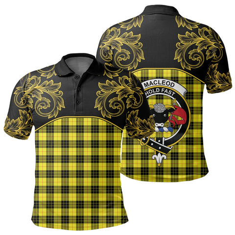 Image of MacLeod of Lewis Modern Tartan Clan Crest Polo Shirt - Empire I - HJT4