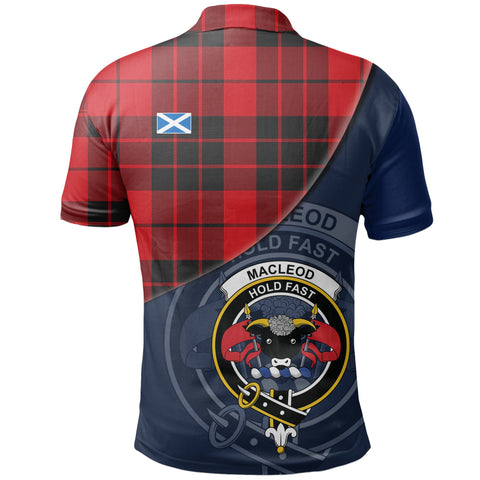 Image of MacLeod of Raasay Polo Shirts Tartan Crest A30