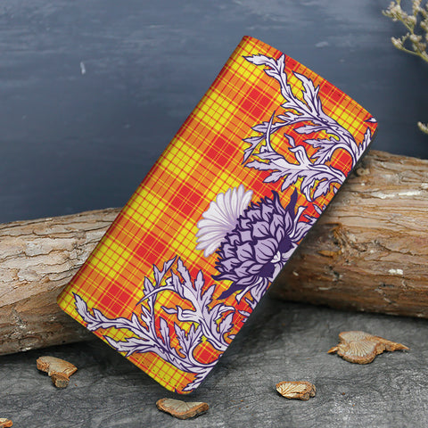 Image of MacMillan Clan Tartan Wallet Women's Leather Thistle A91
