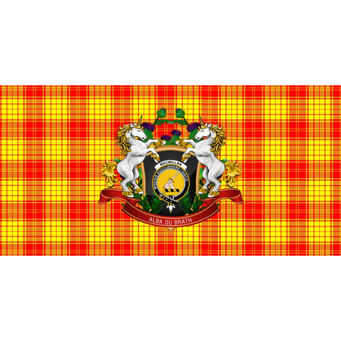 Image of MacMillan Clan Crest Tartan Tablecloth Unicorn Thistle A30
