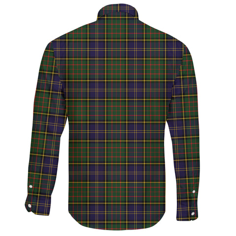 MacMillan Hunting Modern Tartan Clan Long Sleeve Button Shirt A91
