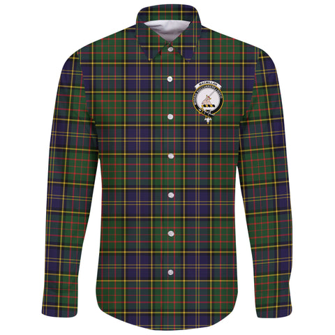 MacMillan Hunting Modern Tartan Clan Long Sleeve Button Shirt | Scottish Clan