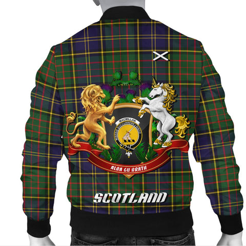 MacMillan Hunting Modern | Tartan Bomber Jacket | Scottish Jacket | Scotland Clothing