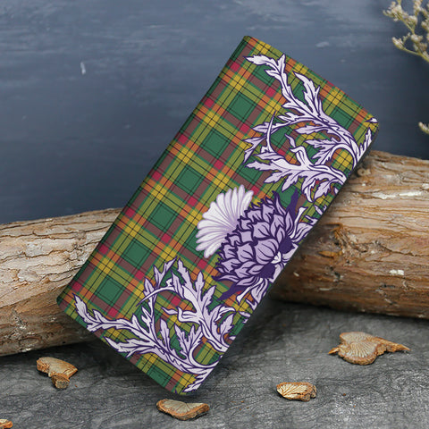 Image of MacMillan Old Ancient Tartan Wallet Women's Leather Thistle A91