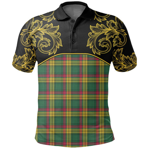 Image of MacMillan Old Ancient Tartan Clan Crest Polo Shirt - Empire I - HJT4 - Scottish Clans Store - Tartan Clans Clothing - Scottish Tartan Shopping - Clans Crest - Shopping In scottishclans - Polo Shirt For You
