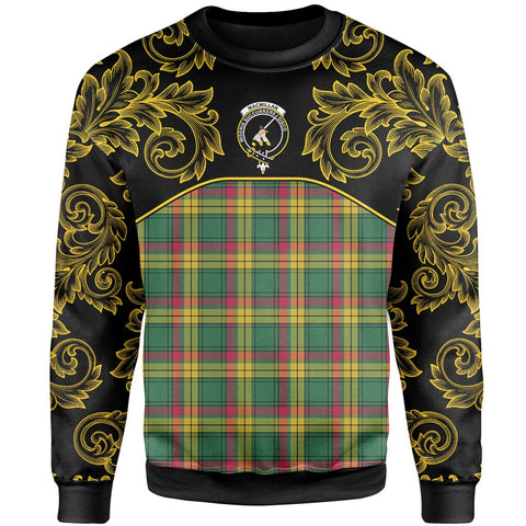 Image of MacMillan Old Ancient Tartan Clan Crest Sweatshirt - Empire I - HJT4 - Scottish Clans Store - Tartan Clans Clothing - Scottish Tartan Shopping - Clans Crest - Shopping In scottishclans - Sweatshirt For You