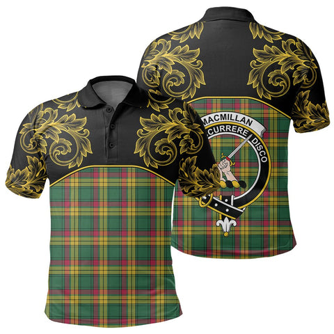 Image of MacMillan Old Ancient Tartan Clan Crest Polo Shirt - Empire I - HJT4