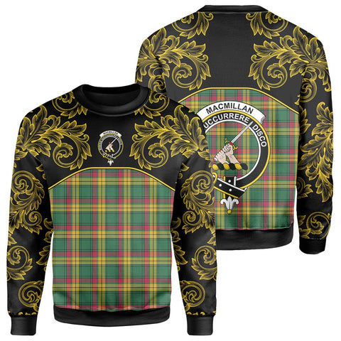 MacMillan Old Ancient Tartan Clan Crest Sweatshirt - Empire I - HJT4