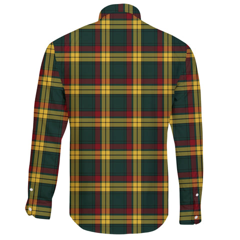 MacMillan Old Modern Tartan Clan Long Sleeve Button Shirt A91