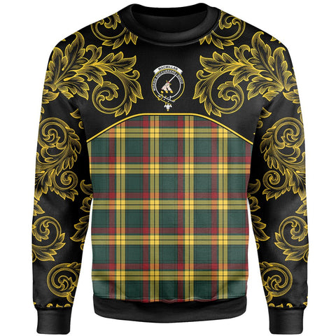 MacMillan Old Modern Tartan Clan Crest Sweatshirt - Empire I - HJT4 - Scottish Clans Store - Tartan Clans Clothing - Scottish Tartan Shopping - Clans Crest - Shopping In scottishclans - Sweatshirt For You