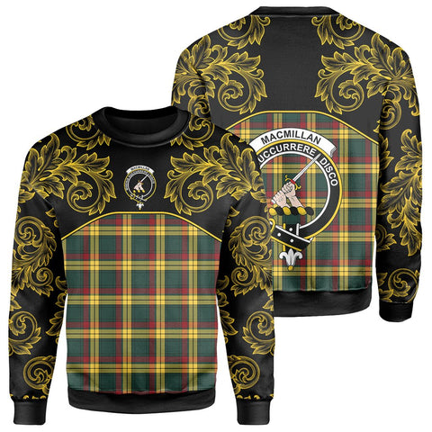 Image of MacMillan Old Modern Tartan Clan Crest Sweatshirt - Empire I - HJT4
