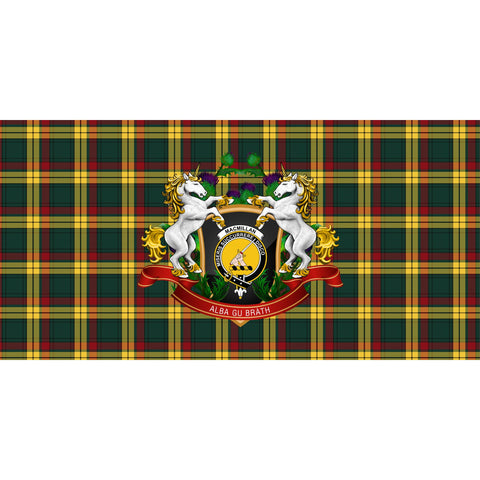 MacMillan Old Modern Crest Tartan Tablecloth Unicorn Thistle A30