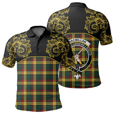 MacMillan Old Modern Tartan Clan Crest Polo Shirt - Empire I - HJT4