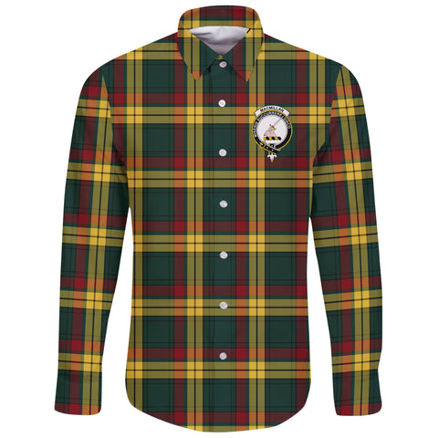 MacMillan Old Modern Tartan Clan Long Sleeve Button Shirt | Scottish Clan